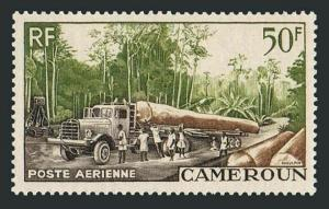 Cameroun C34,MNH.Michel 309. Logging 1955.Tree,Truck.