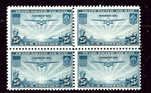 U.S. C20 MNH block of 4  weak vertical perfs    (ap4227)