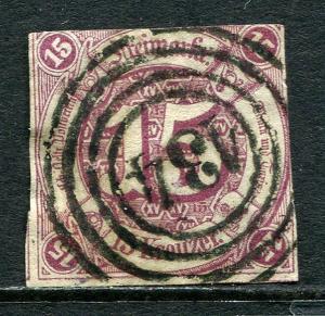 GR Lot 10465 Altdeutschland Thurn & Taxis 1859 Michel 24  15 Kreuzer Freimarken