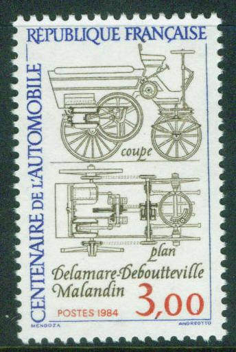 FRANCE Scott 1943 MNH** 1984 Antique Automobile stamp