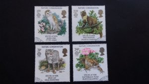 Great Britain 1986 EUROPA Stamps - Nature Conservation Used