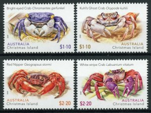 Christmas Island Crabs Stamps 2020 MNH Red Nipper Ghost Crab Crustaceans 4v Set