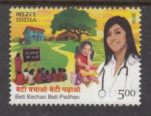 India 2015  # 2715   Beti Bachao Beti Padhao Save Girl Child      MNH 02452 sd