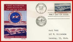 US FDC #1164 M 6 4c Automated PO - Cachet Craft - Boll Cachet (3133)