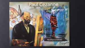 Art - Burundi 2012. - Paul Cezanne ** MNH Block