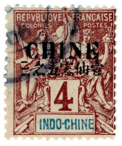 (I.B) France Colonial Postal : Indo-China 4c (Chine OP)