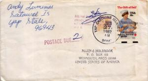 Caroline Islands 18c American Red Cross 1982 Yap, Caroline Islands 96943 to W...