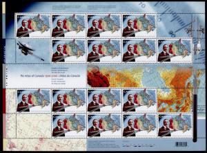 Canada 2160 Sheet MNH Atlas of Canada, Map