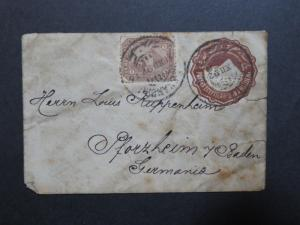Egypt 1892 Uprated Postal Stationer to Germany / Sm Side Tears - Z8545