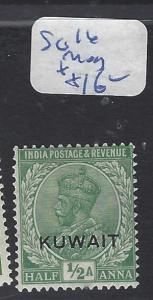 KUWAIT (PP0602B)  ON  INDIA KGV 1/2A  SG 16   MOG