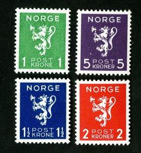 Norway Stamps # 203-6 VF OG NH Catalog Value $40.00