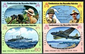 New Hebrides (Fr) #139-42 MNH CV $6.85 (X7580)