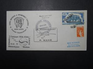 France 1979 Antarctic Mission Cover / SINODE TAAF / Paquebot Cancel - Z11119