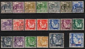 Netherlands Indies # 164-88, B57 ~ Short Set 19/25, B57 ~ MX, Mised Condition