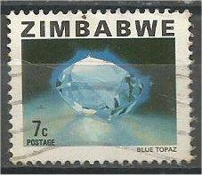 ZIMBABWE, 1980, used 7c, Gemstone, Scott 418