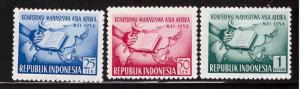 Indonesia  Scott 421-423 MH* stamp set