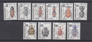 J29317, 1982-3 france set mnh #j106-15 insects