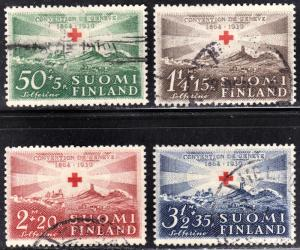 Finland Scott B35-38  complete set  F to VF used.