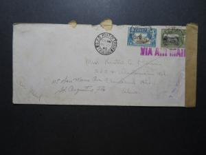 Trinidad 1940 Censor Cover to USA - Z11517