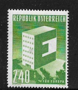 AUSTRIA,637, MINT HINGED, GIANT E
