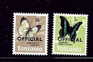 Tanzania O17-18 MNH 1973 part set
