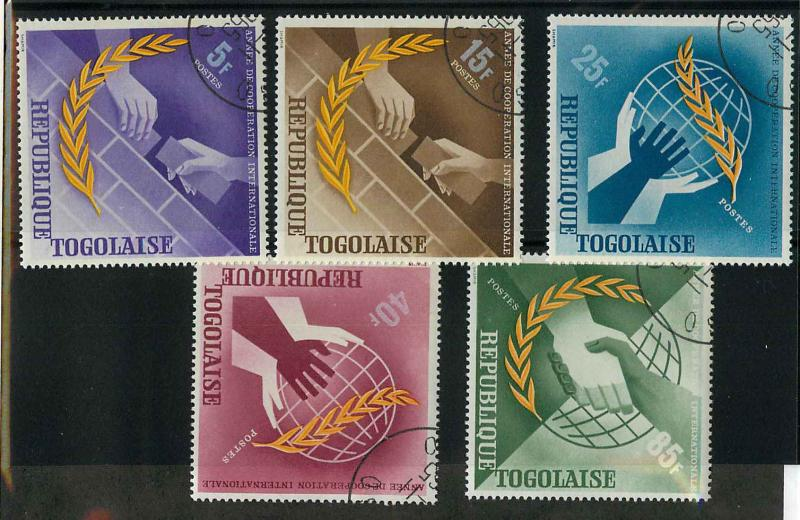 Togo 538-542 Used CTO VF