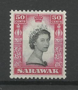 Sarawak 1955, Sg 199, 50c Black & Carmine, Lightly Mounted Mint. [1453]