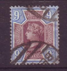 J19318 Jlstamps 1887 great britain used #120 queen