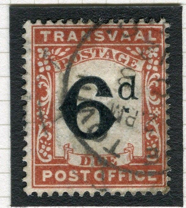 TRANSVAAL Postage Due issue Ed VII CAPE TOWN Postmark on 6d. value
