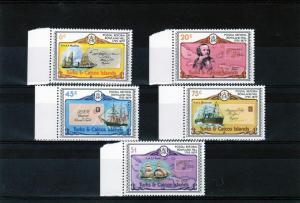 TURKS & CAICOS 1979 Scott# 391-5 R.Hill-Ships Set(5)MNH