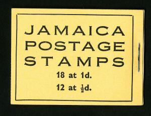 Jamaica Stamps VF Unexploded Booklet of 5 Panes 1938 OG NH