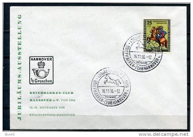 Germany 1956 Cover Berlin Special Cancel Briefmarken Club Used