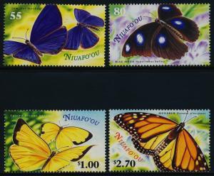Tonga - Niuafo'ou 225-8 MNH Butterflies