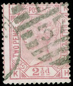 SG141, 2½d rosy mauve PLATE 14, USED. Cat £60. KH
