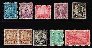 US STAMP 1920-30'  MINT STAMP COLLECTION LOT #W2