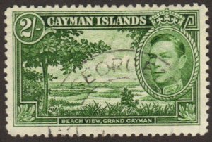 Cayman Is. #109 used 2-shilling beach