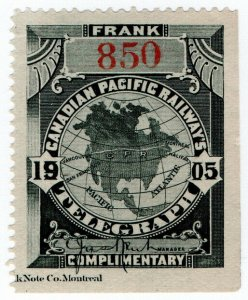 (I.B) Canada Telegraphs : Canadian Pacific (1905)