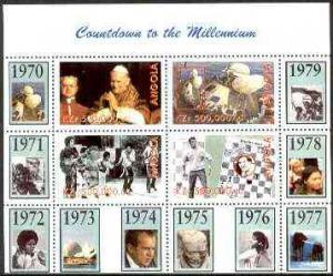 Angola 1999 Countdown to the Millennium #08 (1970-1979) p...