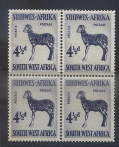 SOUTH WEST AFRICA -Scott 253- Karaku Lamb -1954- MNH- Block of 4 Stamps