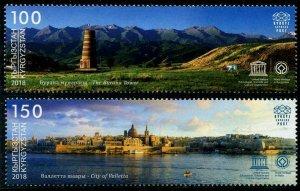HERRICKSTAMP NEW ISSUES KYRGYZSTAN-KEP UNESCO World Heritage Sites