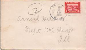 United States Washington Prindle 1913 4a-bar  1909-1938  2c Panama Pacific  .