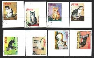 Vietnam. 1979. 1063u-70u. Cats. USED.
