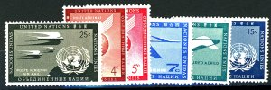 UNITED NATIONS #C2-C7 MINT OG NH