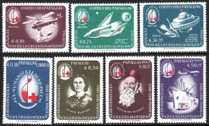 Paraguay 799-805,MNH.Intl. Red Cross,cent. Helicopter,Space ambulance,Plane,1964