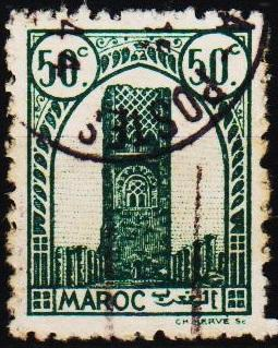 Morocco(French). 1943 50c S.G.267 Fine Used