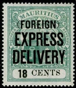 MAURITIUS SGE5, 18c green, M MINT.