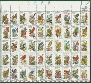 #2002  STATE BIRDS and FLOWERS Sheet Of 50 ( 20c )  MNH