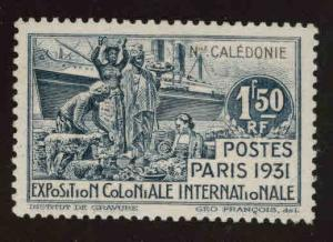 New Caledonia (NCE) Scott 179 MNH** from 1931 expositon set