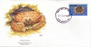 Grenada FDC SC# 1889 Flamestreaked Box Crab L41