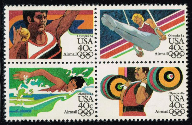 US #C108b 23rd Olympic Games Block of 4; new (4.25)